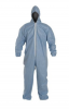 DuPont ProShield 6 SFR Coverall. Standard Fit Hood. Elastic Wrists and Ankles. Serged Seams. Blue. MD