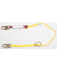 MSA 10088213 Sure-Stop 6' Fixed Length Single-Leg Energy-Absorbing Web Lanyard with 36C Steel Snaphook & Tieback Version