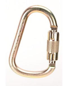 """MSA 10089207 ANSI-Certified Auto-Locking Steel Carabiner with 1"""" Gate Opening"""