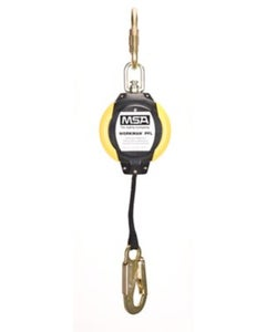 MSA 10093350 Workman Web PFL with 12' Line Length, LC Steel Snaphook & 1