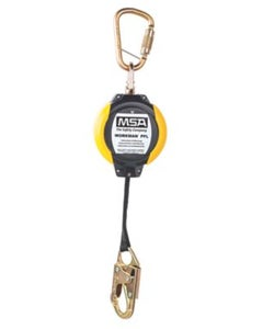 MSA 10093353 Workman Web PFL with 12' Line Length, 36C Steel Snaphook & 1