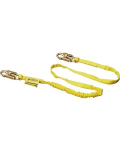 Miller Manyard Shock-Absorbing Lanyard (4' Single Leg with 2 Locking Snap Hooks), Yellow, ANSI Z359 Compliant