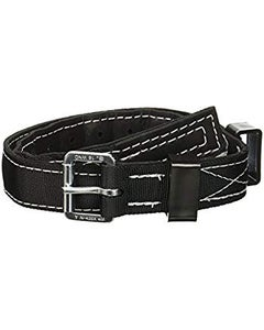 "Miller Nylon Body Belt (1.75"" Black Web Belt, Tongue Buckle with 11 Grommets), Large"