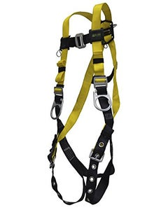 Miller Standard Non-Stretch Harness (Back D-Ring, Mating Buckle Chest Strap & Tongue Buckle Leg Strap), Universal