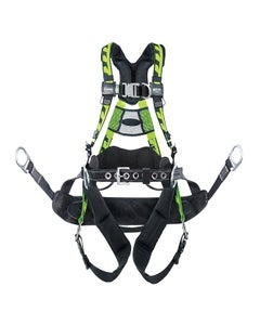Miller AirCore Harness for Tower Climbing with Removable Bos'n Chair with Side D-Rings