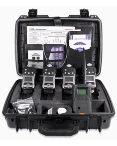 Wireless Confined Space Entry ConneXt Pack, 4 Units QRAE 3 LEL, O2, CO, H2S Pumped, 1 EchoView Host, Accessories  (F04R-B4111-000)