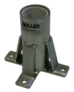 Miller DuraHoist Zinc-Plated Floor Mount Sleeve