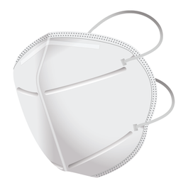 ARC Surgical Respirator with Vertical Fold - Large Size