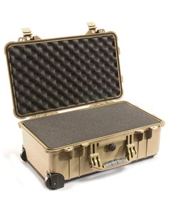 Pelican 1510 Carry On Case with Foam (Tan)