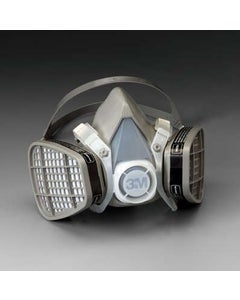 3M 5201 Organic Vapor Half Facepiece Disposable Respirator Assembly