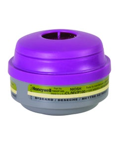 Honeywell 75852P100L Mercury Vapor & Chlorine Cartridge with ESLI & P100 Filter for N Series Respirators