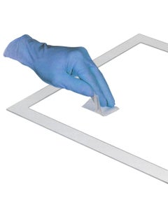 Wipe Template, Plastic, 10 x 10 cm