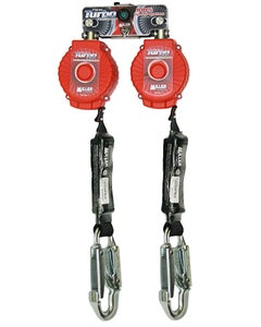 Miller TwinTurbo Fall Protection System with D-Ring Connector (6' System with Aluminum Locking Snap Hooks)
