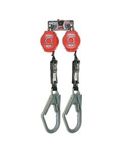 Miller TwinTurbo Fall Protection System with D-Ring Connector (6' System with Steel Locking Snap Hooks)