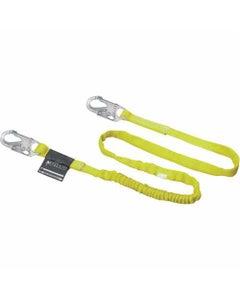 Miller Manyard Shock-Absorbing Lanyard (6' Single Leg with 2 Locking Snap Hooks), Yellow, ANSI Z359 Compliant