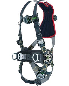 Miller Revolution Arc-Rated Harness (Back & Side D-Rings, Quick-Connect Buckle Leg Straps, Removable Belt), Universal