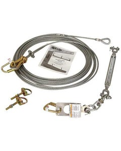 Miller SkyGrip Temporary Horizontal Lifeline Systems with Two 416 D-Bolt Anchors, 60' Kit