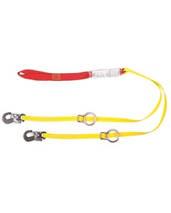 MSA SWL40206LI Sure-Stop Twin-Leg Lanyard with Tie Back, Sewn Loop & LI Snaphook